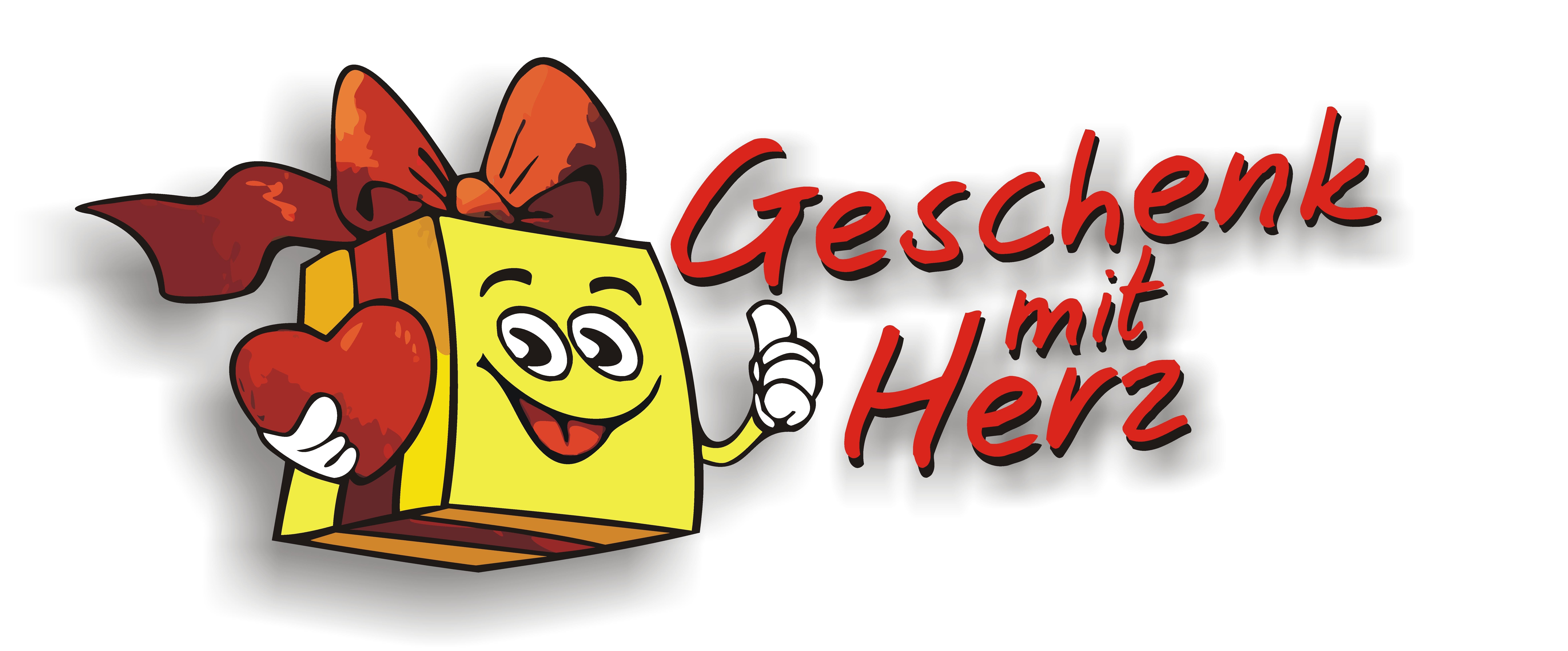 Geschenk mit Herz Logo