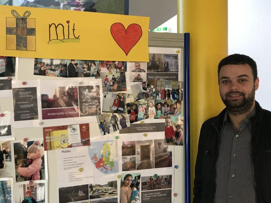 In der Schule vor der Moldau Infowand