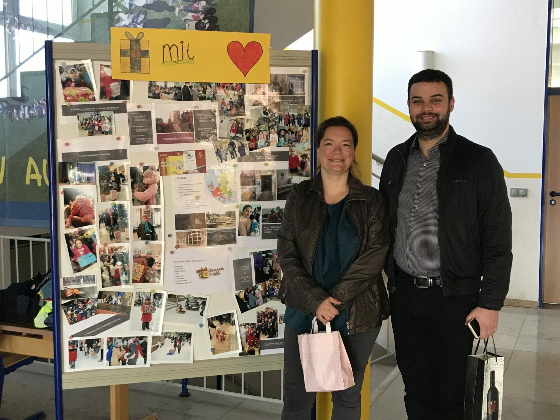 """""""Geschenk mit Herz-Moldau"""" Infotafel"""